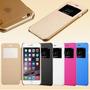 Capa Case Iphone 6 Plus Flip Cover Acrilico Tecido +película