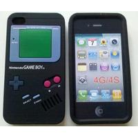 Case Capas Game Boy Iphone 4 4s Preta Ou Cinza + Película
