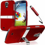 Kit Capa Samsung Galaxy S4 I9500 Cromada Vermelha