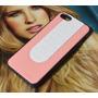 Capa Case Apple Iphone 5 5s Rosa E Branca Lindo Design
