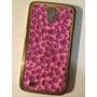 Capinha Capa Case Galaxy Mega Oncinha Glitter Brilho Luxo