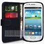 I8190 Carteira Flip Case Galaxy S3 Mini Capa Tpu Capinha Cou