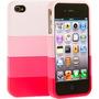 Capa Desmontavel Para Iphone 4/4s Rosa Ou Colorido - Barato