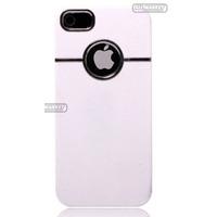 Case Capa Luxo Cromado Branco Preto P Iphone 4 4g Iphone 4s