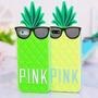 Case Pink Abacaxi Pra Iphone 5/5s/5c/6g Pronta Entrega
