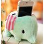 Porta Treco Pelúcia Elefante Celular Ipod - Pronta Entrega