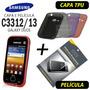 Capa Tpu + Película Galaxy Duos C3313t C3312 + Frete Grátis