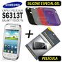 Capa Gel + Película Galaxy Young Duos S6313t + Frete Grátis