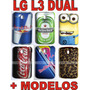 Capa Lg L3 Ii Dual E435 Diversos Modelos + Pelicula Gratis