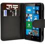 Capa Carteira Case Nokia Lumia 620 + Película Vidro Temperad