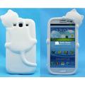 Capa Case 3d Gato Kiki Branca - Galaxy S3 - Frete Gratis