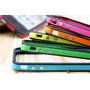 Capa Bumper Apple Para Iphone 4 4s Botões Cromados 30 Cores