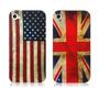 Case Bandeiras British & American National Iphone 4/4s
