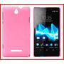 Case Capa Rígida Rosa Pink Fosca Xperia E Dual C1604 C1605