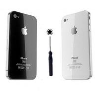 Tampa Vidro Traseira Iphone 4 4s Preto/branco - Frete Grátis