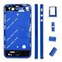 Chassi Aro Carcaça Midi Frame Azul Iphone 4 + Brinde