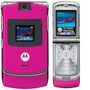 Carcaça Celular Motorola V3 Rosa