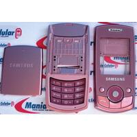 Carcaça Samsung J700 Rosa + Teclado + Chassi Completa