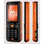 Carcaça Celular Sony Ericsson W610 Preto E Laranja