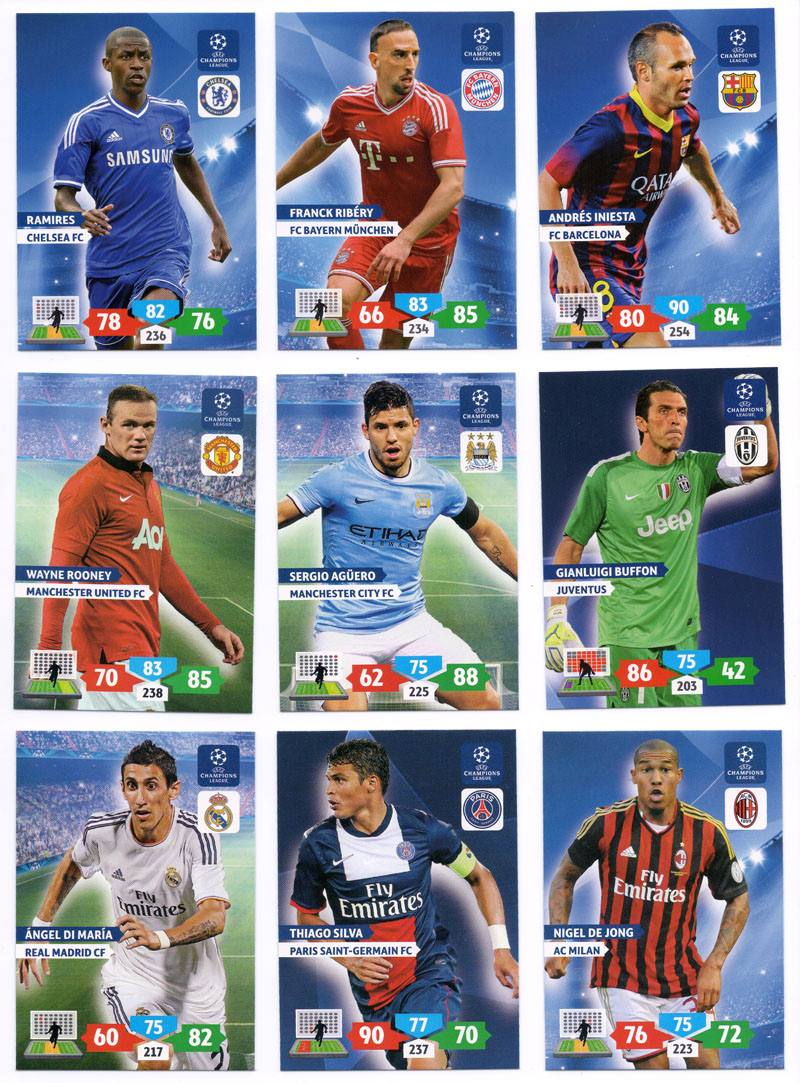 Champion League Cards 2014 Cards Champions League
