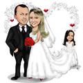 Caricaturas Para Convites De Casamentos Aniversários Unidade
