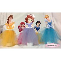 Tubete Princesas Disney Personalizado Com Tule - 10 Unidades