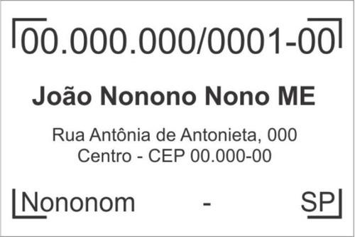 Carimbo De Cnpj Padrão Empresa , Automatico Trodat