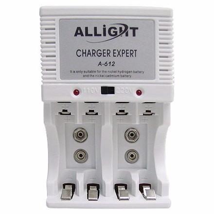 Carregador Pilhas Aa Aaa E Bateria 9v Recarregável Bi Volt