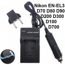 Carregador Nikon En-el3 En-el3e+ D70 D80 D90 D200 D300 D700