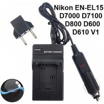 Carregador Para Nikon En-el15 D7000 D7100 D600 D800 D610 1v1