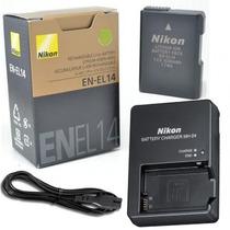 Bateria Nikon En-el14 Original+ Carregador Mh-24 D3300 D5300