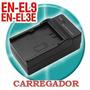 Carregador De Bateria En-el3e / En-el9e / Lp-e6 / Lp-e8 Fv50