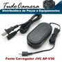 Carregador Fonte Ap-v30 Filmadora Jvc Gz- Hm990 Ms110 Ms118