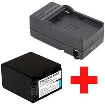 Carregador + Bateria Np-fh100 Sony Dcr- Sr82 Sr85 Sr90 Sr10