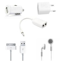 Kit 5 In 1 Travel Charger Kit For Ipad Iphone 4g/3g