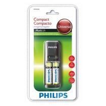 Carregador De Pilhas Universal Aa Philips + 2 Pilhas 2450mah