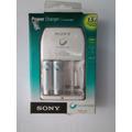 Carregador + 2 Pilhas Sony Aa Cycle Energy Original Original