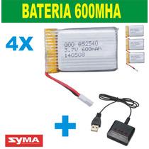 Bateria Par Syma X5c 4 Baterias Mais Carregador P. Entrega
