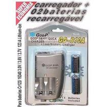 Carregador + Baterias+godp+cr123a+lithium+ion