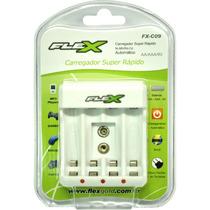 Carregador De Pilhas 2-4 Baterias Aa Aaa Bateria 9v Flex