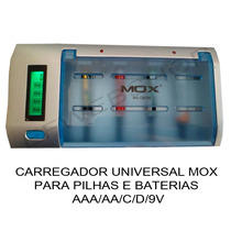 Carregador Pilhas Aa Aaa C D Bateria 9v Flexgold Fx-c06 + Nf