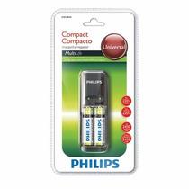 Carregador Philips +2 Pilhas Aa Recarregaveis 2450mah Oferta