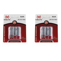 Kit Com 8 Pilha Palito Recarregável Mox Aaa 1100