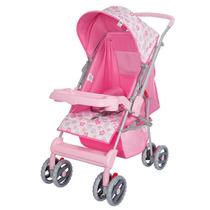 Carrinho De Bebê Berço Magni Reversível Rosa - Tutti Baby