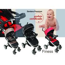 Carrinho De Bebê Finess +bebê Conforto+adaptador Dardara