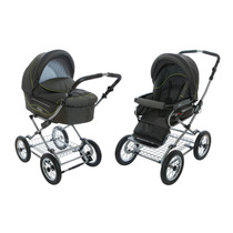Carrinho Bebê Roan Kortina Stroller 2 Em 1 - Verde Musgo