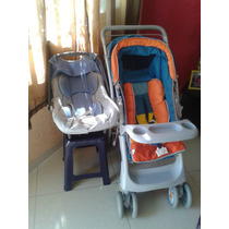 Carrinho De Bebê Galzerano + Bebê Conforto Burigotto