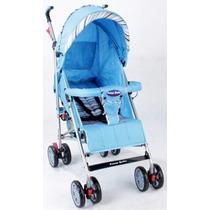 Carrinho De Bebê Guarda Chuva Prime Baby Premium Azul .