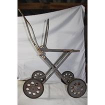 Armação De Carrinho De Bebê Década De 60 Usado