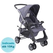 Carrinho De Bebê Rio Plus Reversível - New Silver Rosa